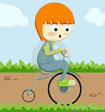Triciclo corriente del niño pequeño