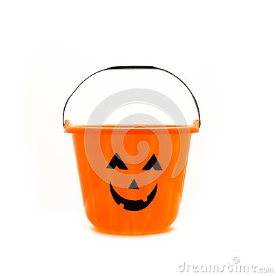 Free Trick Or Treat Candy Pail Bucket Isolated Stock Image - 100615111