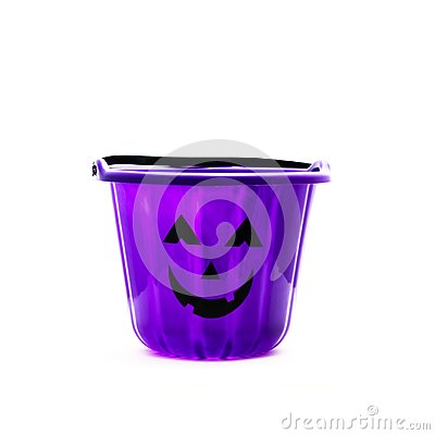 Free Trick Or Treat Candy Pail Bucket Isolated Royalty Free Stock Images - 100615149