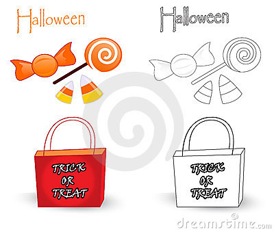 Trick or treat bag and candies