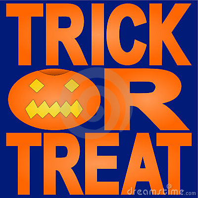Trick or treat with jack o lantern