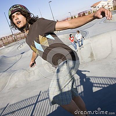 Tricks at the skatepark