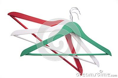 Tricolor coat hanger