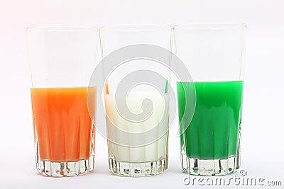 Tricolor in glass