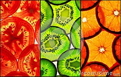 Tricolor slices