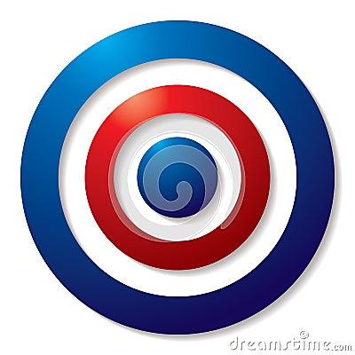 Tricolor target