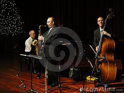 Trifecta Jazz Band Trio Editorial Stock Image