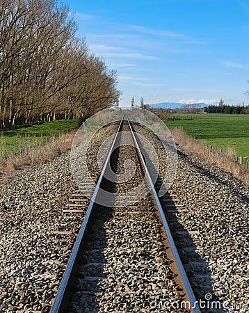Trilhos em linha reta