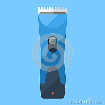 Free Trimmer Blue Flat Icon For Home Shave Or Barbershop Royalty Free Stock Photos - 78856128