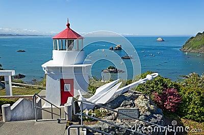 Trinidad bay memorial lighthouseand harbor, California