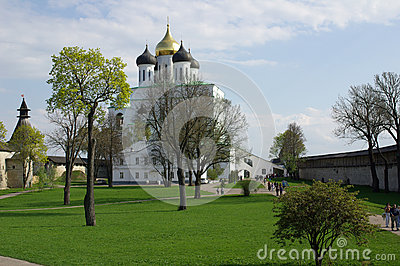 Trinity Cathedral in Pskov, Russia