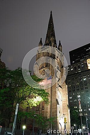 Trinity Church at Night