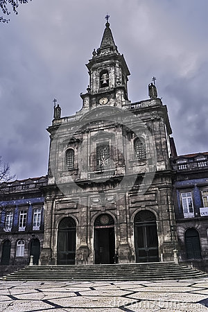 Trinity church in Porto