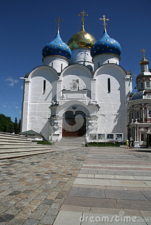 Free Trinity Lavra Of St. Sergius - The Largest Orthodox Male Monastery In Russia. Assuption Cathedral, 16th Century Royalty Free Stock Photography - 59843607