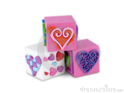 Trio Blocks of Hearts