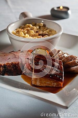 Trio da carne de porco