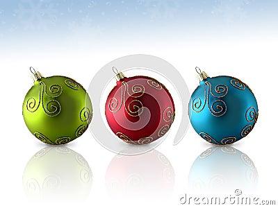 Trio Glass Ornament