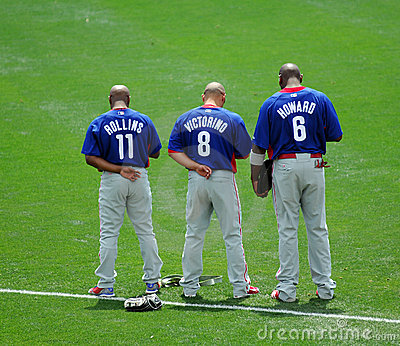 Trio of Phillies all-stars Editorial Photography