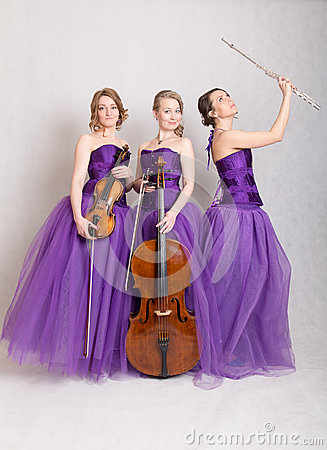 Free Trio With Instruments Royalty Free Stock Photos - 54524468