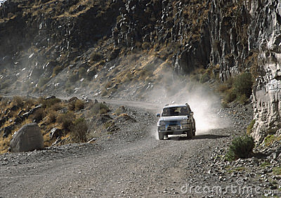 Trip on a gravel road