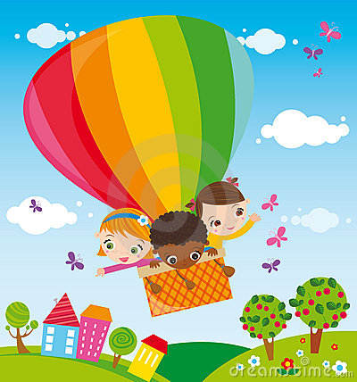 Trip with hot air balloon