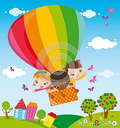 Trip with hot air balloon