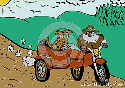 Trip by sidecar