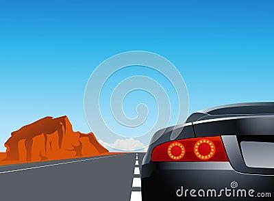 Trip with sport car