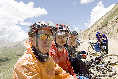 Trip to Tibet by bike Editorial Image