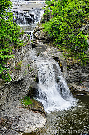 Triphammer falls ithaca new york stock images image for Urban waterfall design