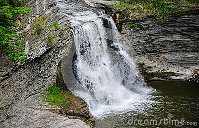 Triphammer falls ithaca new york royalty free stock for Urban waterfall design