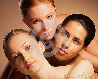 Triple beauty portrait