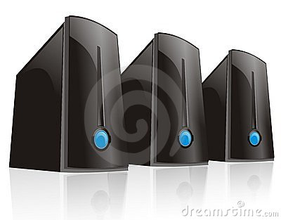 Triple black server computer