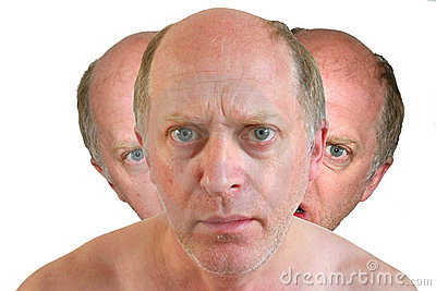 Triple headed man