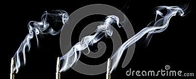 Triple incense smoke