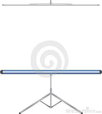 Free Tripod Projection Screen Stock Photography - 2706552