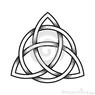 Free Triquetra Or Trinity Knot. Hand Drawn Dot Work Ancient Stock Image - 107024381