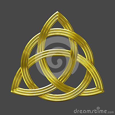 triquetra trinity knot gold symbol stock photo image. Black Bedroom Furniture Sets. Home Design Ideas