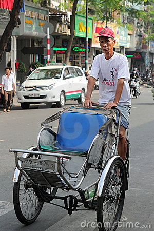 Trishaw at Ho Chi Minh, Vietnam Editorial Image