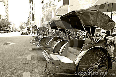 Trishaws (Monochrome)