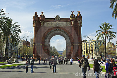 Triumph Arch (Arc de Triomf), Barcelona Editorial Stock Image