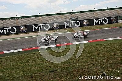 Triumph Daytona 675 Power team by Suriano Editorial Stock Photo
