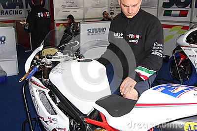 Triumph Daytona 675 Power Team by Suriano WSS Editorial Image