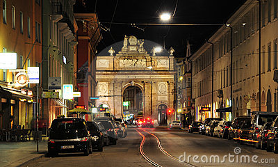 Triumphal Arch Maria Theresia Innsbruck Editorial Stock Photo
