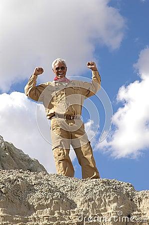 Triumphant Senior MAN!