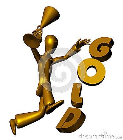 Free Triumphant Winner Stock Image - 11453531