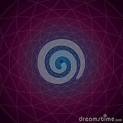 Free Trivexen Twilight: Triangular Vortex Geometric Lines On Gradient Cosmic Plain. Stock Photo - 95252380