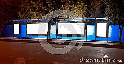Término de autobuses de noche