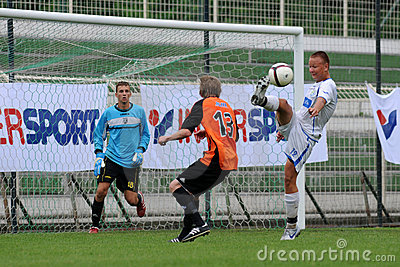 Trnava - Djursholm soccer game Editorial Photo