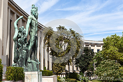 Trocadero的翼在巴黎,法国